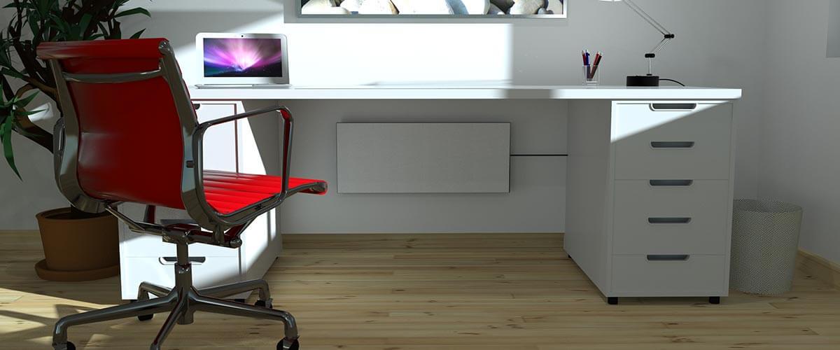 schreibtisch heizung infrarot. Black Bedroom Furniture Sets. Home Design Ideas